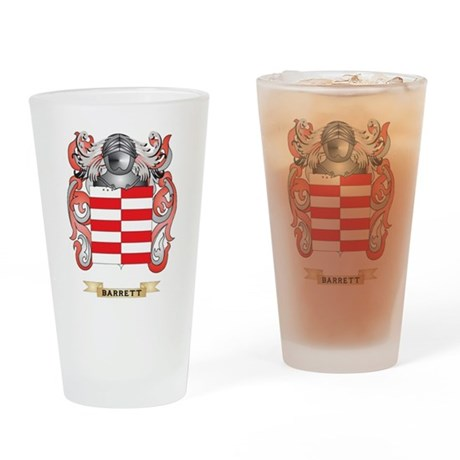 Barrett Coat of Arms Drinking Glass
