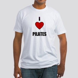I LOVE PILATES Fitted T-Shirt