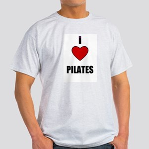 I LOVE PILATES Ash Grey T-Shirt