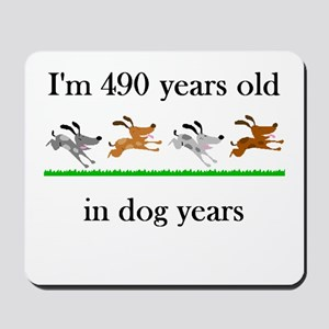 70 birthday dog years 1 Mousepad