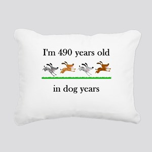 70 birthday dog years 1 Rectangular Canvas Pillow
