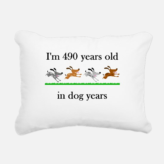 70 birthday dog years 1 Rectangular Canvas Pillow