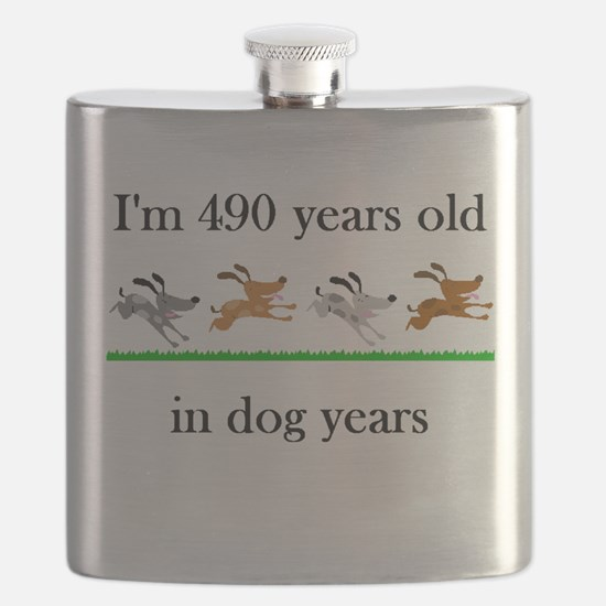 70 birthday dog years 1 Flask