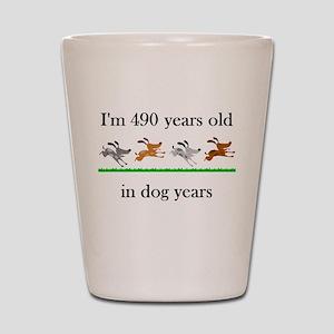 70 birthday dog years 1 Shot Glass