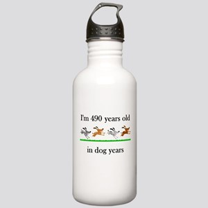 70 birthday dog years 1 Water Bottle