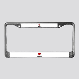 I LOVE PILATES License Plate Frame