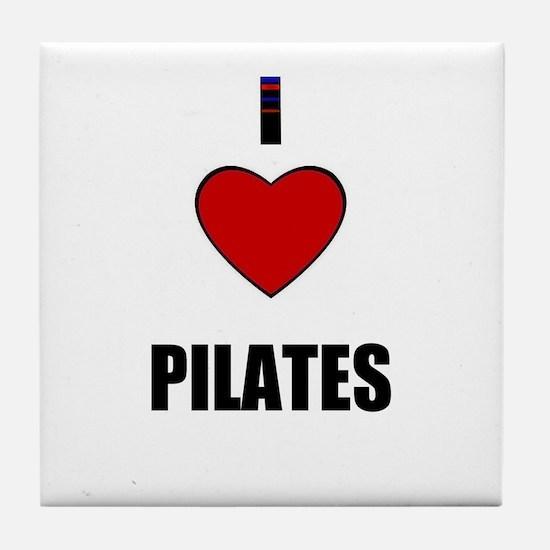 I LOVE PILATES Tile Coaster