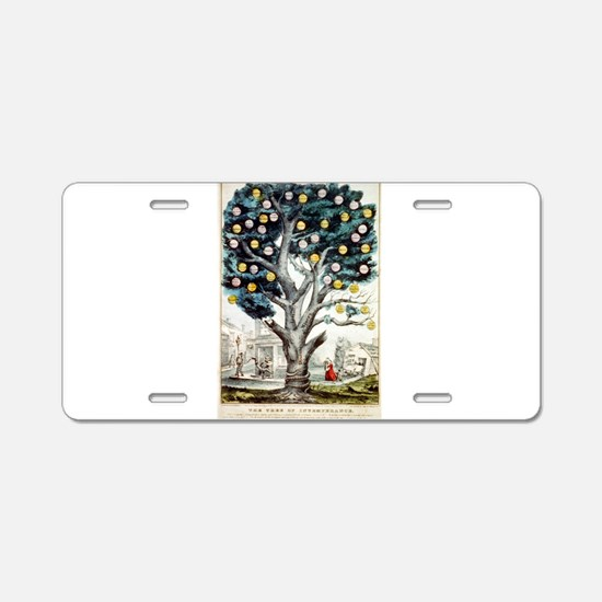 The tree of intemperance - 1849 Aluminum License P