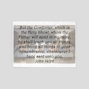 John 14:26 5'x7'Area Rug
