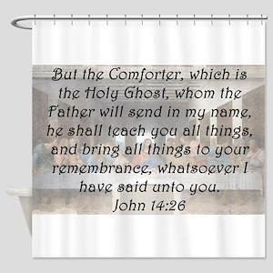 John 14:26 Shower Curtain