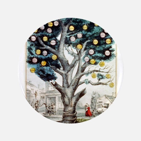 The tree of intemperance - 1849 Button
