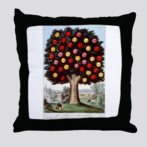 The tree of temperance - 1872 Throw Pillow