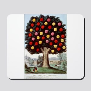 The tree of temperance - 1872 Mousepad