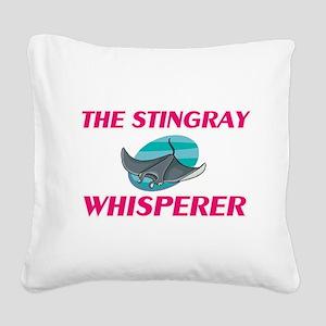 The Stingray Whisperer Square Canvas Pillow