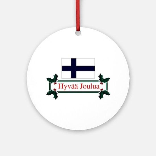 Finland Hyvaa Joulua Keepsake Ornament