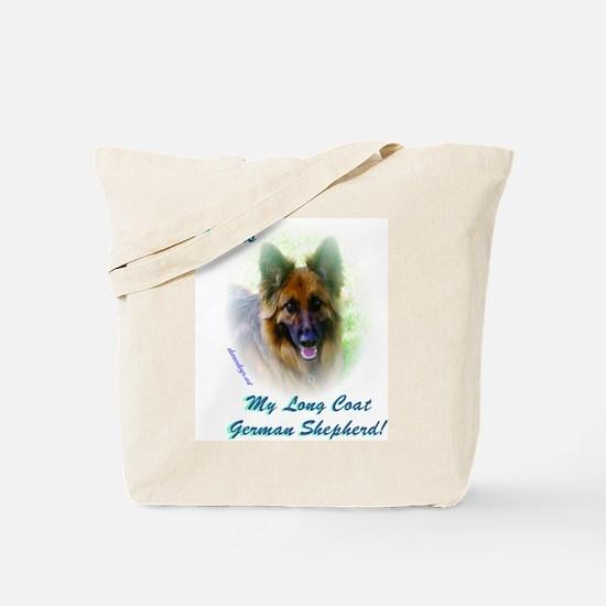 Love is my Long Coat German Shepherd Tote Bag