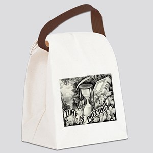 Time is precious - 1872 Canvas Lunch Bag