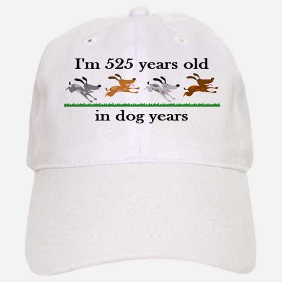 75 dog years birthday 2 Baseball Baseball Baseball Cap