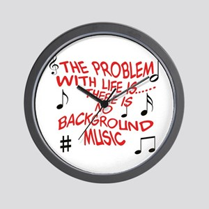 Background Music Wall Clock