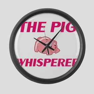 The Pig Whisperer Large Wall Clock