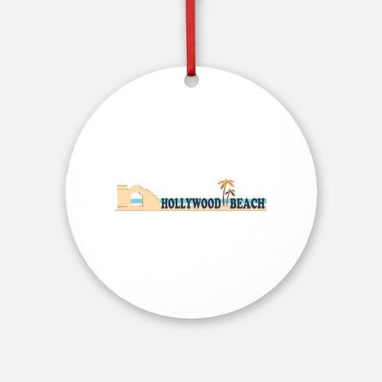 Hollywood Beach - Beach Design. Ornament (Round)