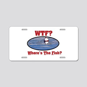 WTF? Where's the Fish? Aluminum License Plate