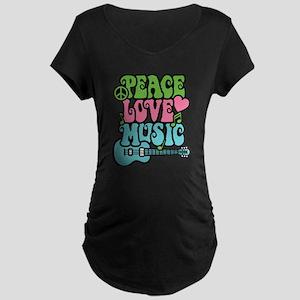Peace-Love-Music Maternity T-Shirt