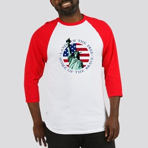 Liberty & American flag Baseball T-shirt