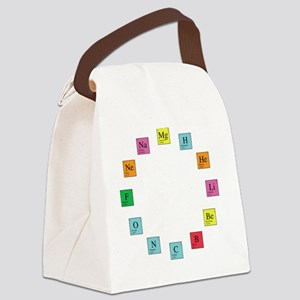Periodic Table Clock Canvas Lunch Bag