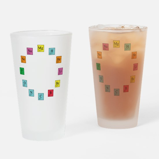 Periodic Table Clock Drinking Glass