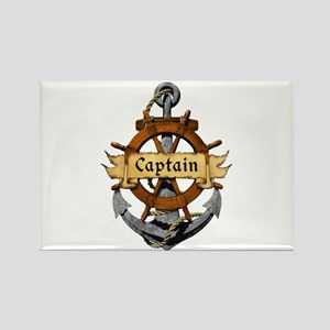 Captain and Anchor Rectangle Magnet