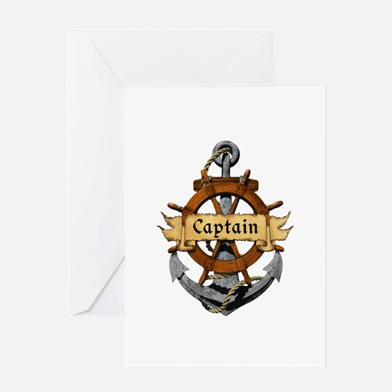 Captain and Anchor Greeting Card