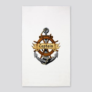 Captain and Anchor 3'x5' Area Rug