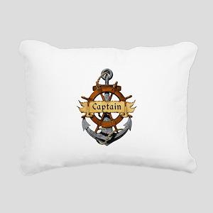 Captain and Anchor Rectangular Canvas Pillow