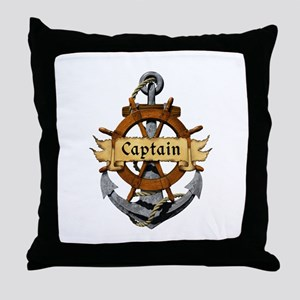 Captain and Anchor Throw Pillow