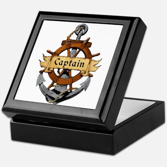 Captain and Anchor Keepsake Box