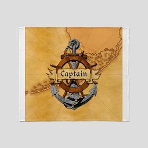 Key West Captain Throw Blanket