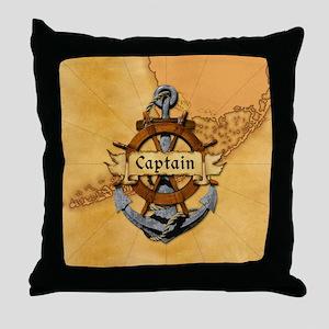 Key West Captain Throw Pillow