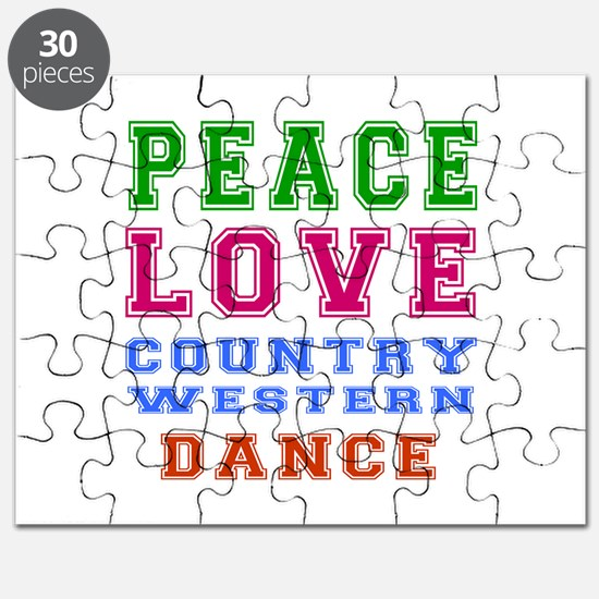 Peace Love Country Western Dance Puzzle