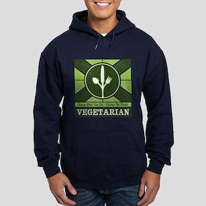 Custom Vegetarian Flag Hoodie (dark)