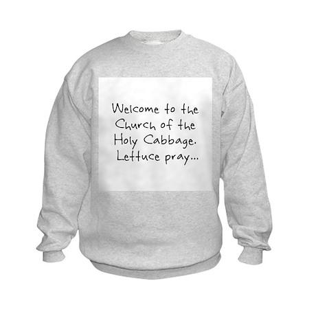 Lettuce Pray Kids Sweatshirt
