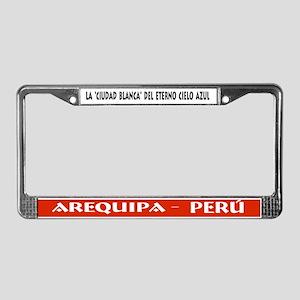 License Plate Frame Arequipa Peru