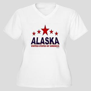 Alaska U.S.A. Women's Plus Size V-Neck T-Shirt