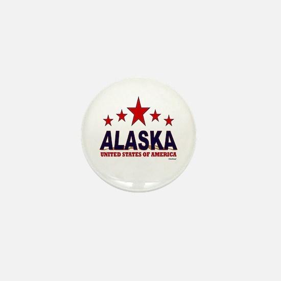 Alaska U.S.A. Mini Button