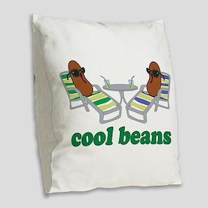 Cool Beans Burlap Throw Pillow