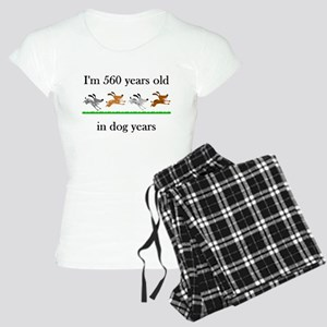 80 birthday dog years 1 Pajamas