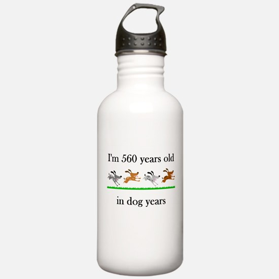 80 birthday dog years 1 Water Bottle
