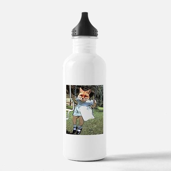 Red Fox Swings Water Bottle