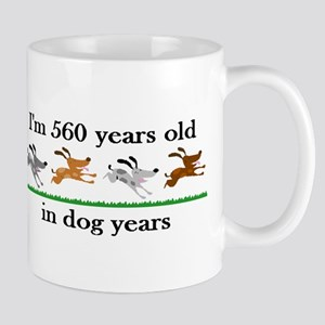 80 dog years birthday 2 Mug