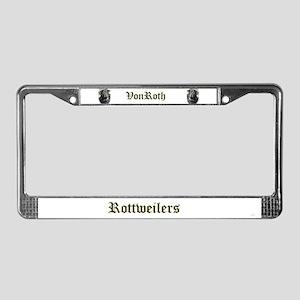 VonRoth License Plate Frame